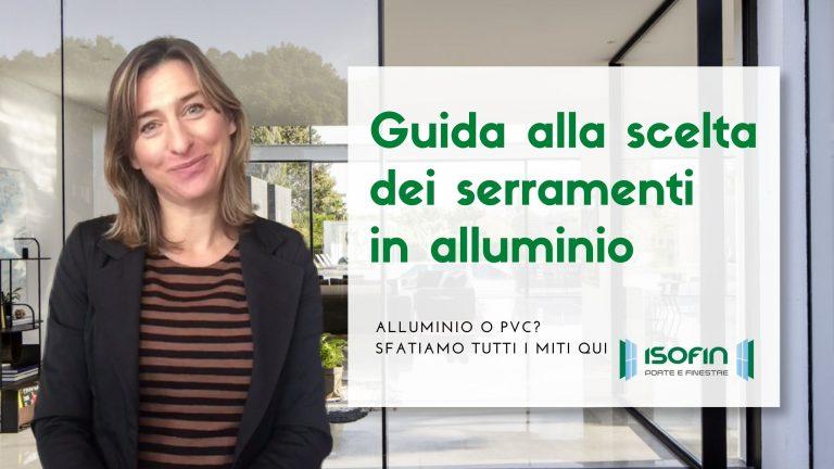 infissi_in_alluminio_cento_ferrara_isofin: foto di Ilaria Malaguti con titolo dell'articolo in verde e bianco