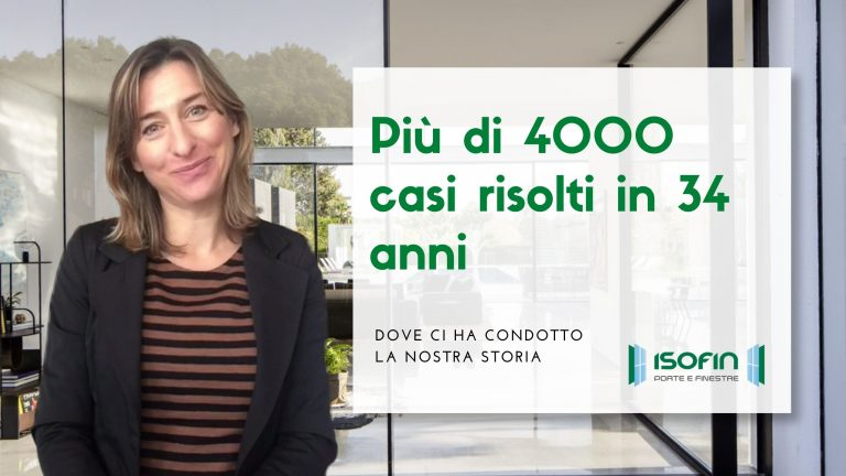 infissi_in_emilia_romagna_isofin_cento: titolo dell'articolo con foto di Ilaria Malaguti in verde e bianco